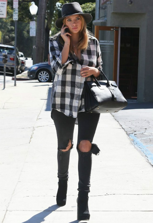 ashley-benson-plaid
