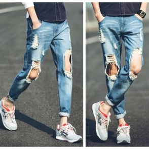 summer-style-jeans-men-an-women-ripped-Ankle-Length-pants-Mens-Fashion-distressed-jeans-Men-s